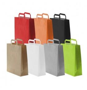 Bolsas de papel asa plana - Base estándar