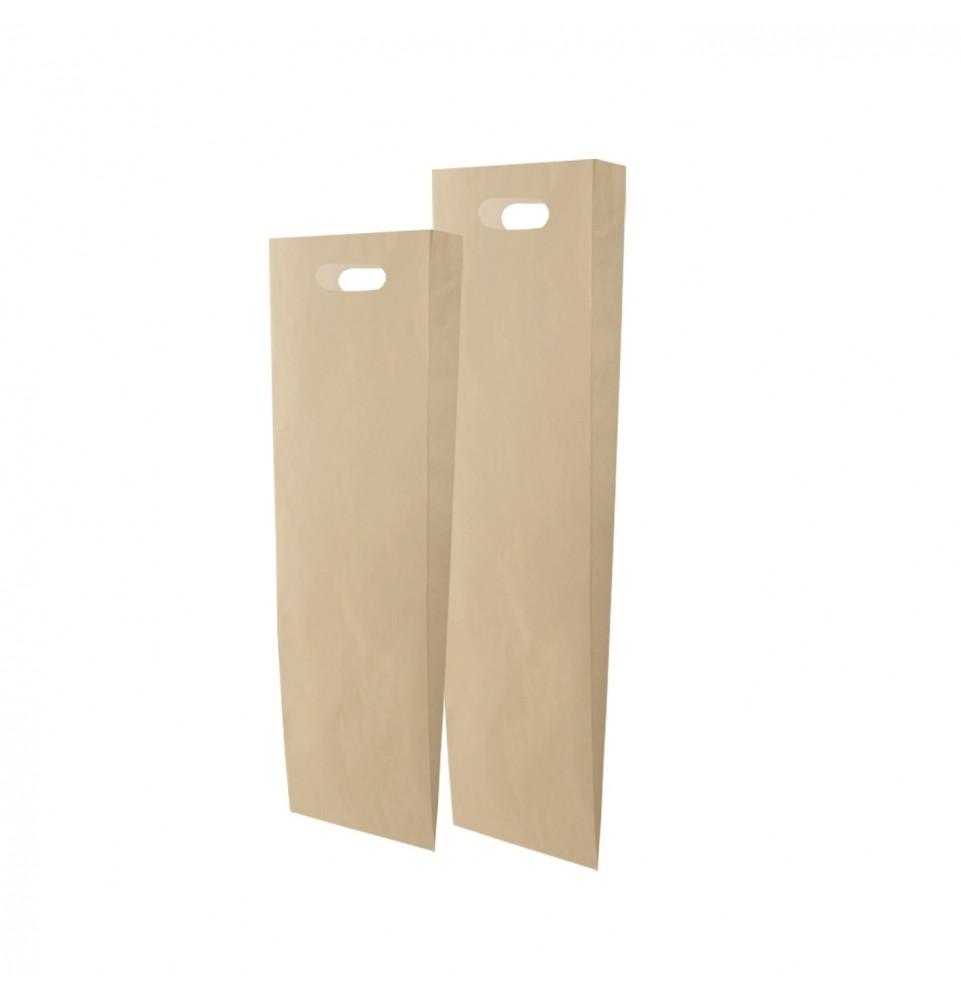 Bolsas de papel - Asa troquel kraft panadería