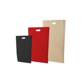 Bolsas de papel - Asa troquel kraft colores