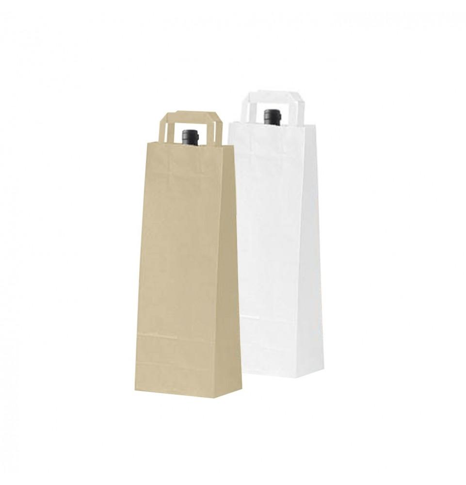 Bolsas de papel asa plana - Botella