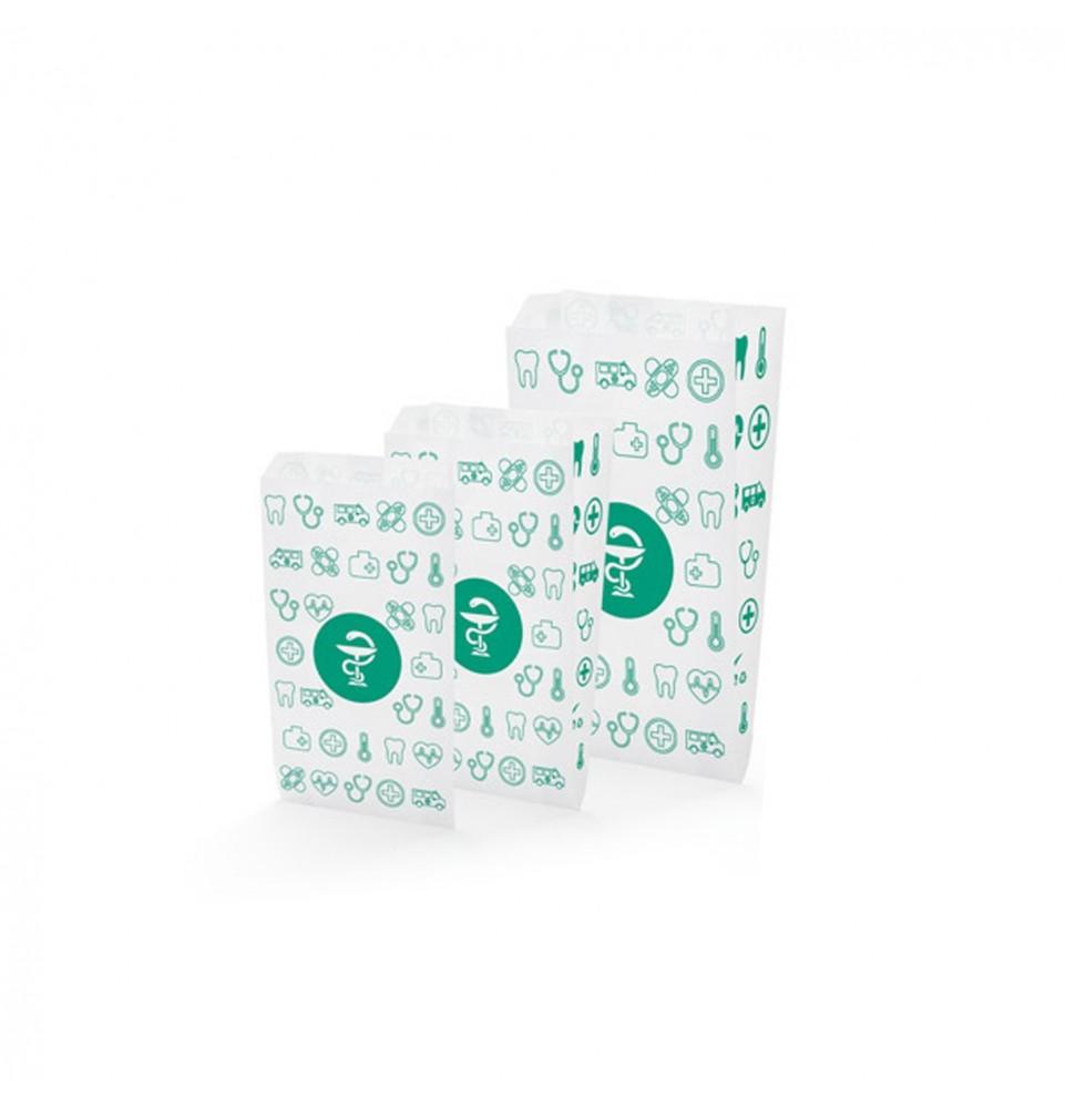 Bolsas de papel - Farmacia motivos