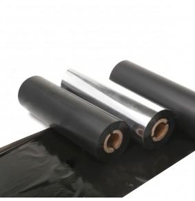Ribbon cera 110mm x 450 m, 1 pulgada, Cabezal plano