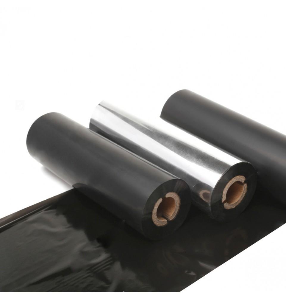 Ribbon resina 65mm x 300 m, 1 pulgada, Cabezal plano